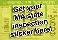 Massachusetts car inspection rejection sticker